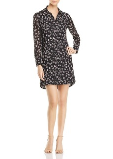 Tory Burch Avery Floral Print Silk Shirt Dress