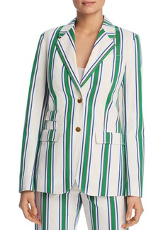Tory Burch Awning-Stripe Blazer
