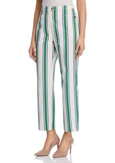 Tory Burch Awning-Stripe Pants
