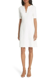 Tory Burch Bailey Scallop Cotton Dress