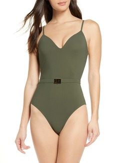 Tory Burch Belted One-Piece Swimsuit