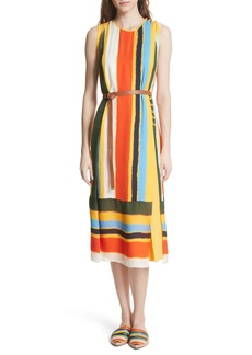 Tory Burch Bettina Stripe Silk Wrap Dress