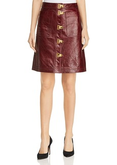 Tory Burch Bianca A-Line Leather Skirt