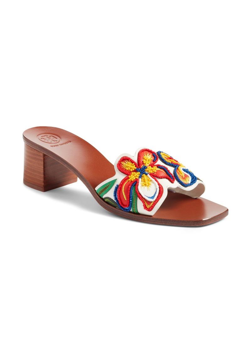 d30bba11a18c0 Tory Burch Tory Burch Bianca Floral Embellished Slide Sandal (Women ...