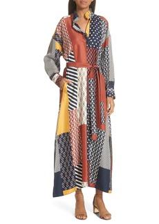Tory Burch Bianca Patchwork Maxi Dress