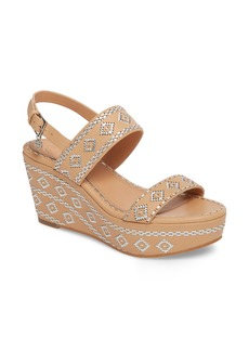 Tory Burch Blake Embroidered Platform Wedge (Women)
