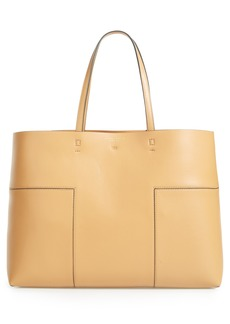 Tory Burch 'Block-T' Leather Tote