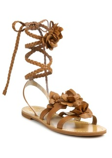 Tory Burch Blossom Gladiator Leather Sandals