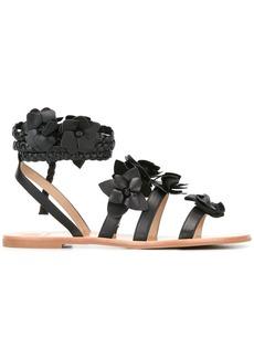 Tory Burch Blossom gladiator sandals - Black