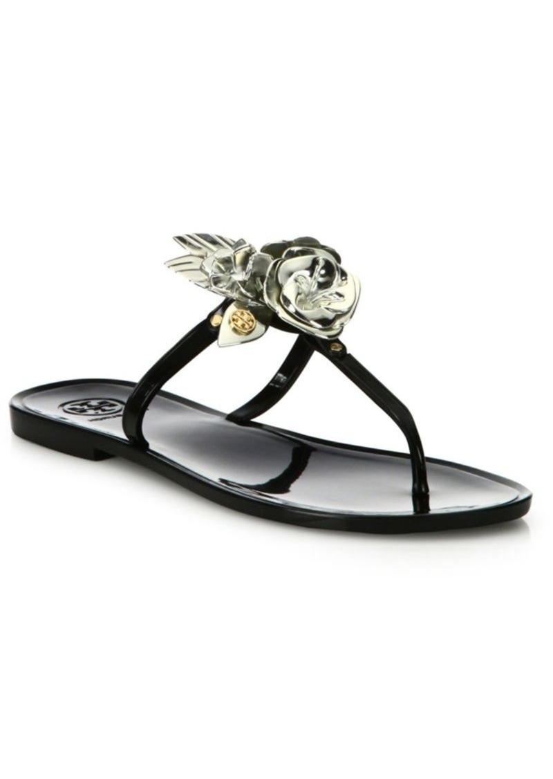 7af7c4d2c20f Tory Burch Tory Burch Blossom Jelly Thong Sandals Now  87.50
