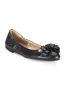 Tory Burch Blossom Leather Ballet Flats