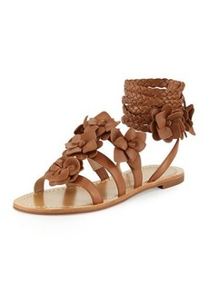 Tory Burch Blossom Leather Gladiator Sandal