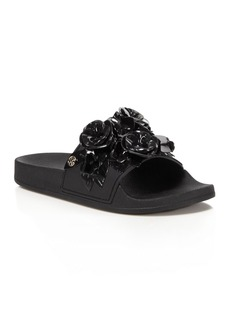 Tory Burch Blossom Pool Slide Sandals