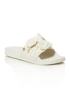 Tory Burch Blossom Pool Slide Sandals