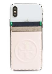 Tory Burch Bombe Logo Card Sticker Phone Pocket