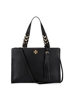 Tory Burch Brooke Smooth Leather Satchel Bag