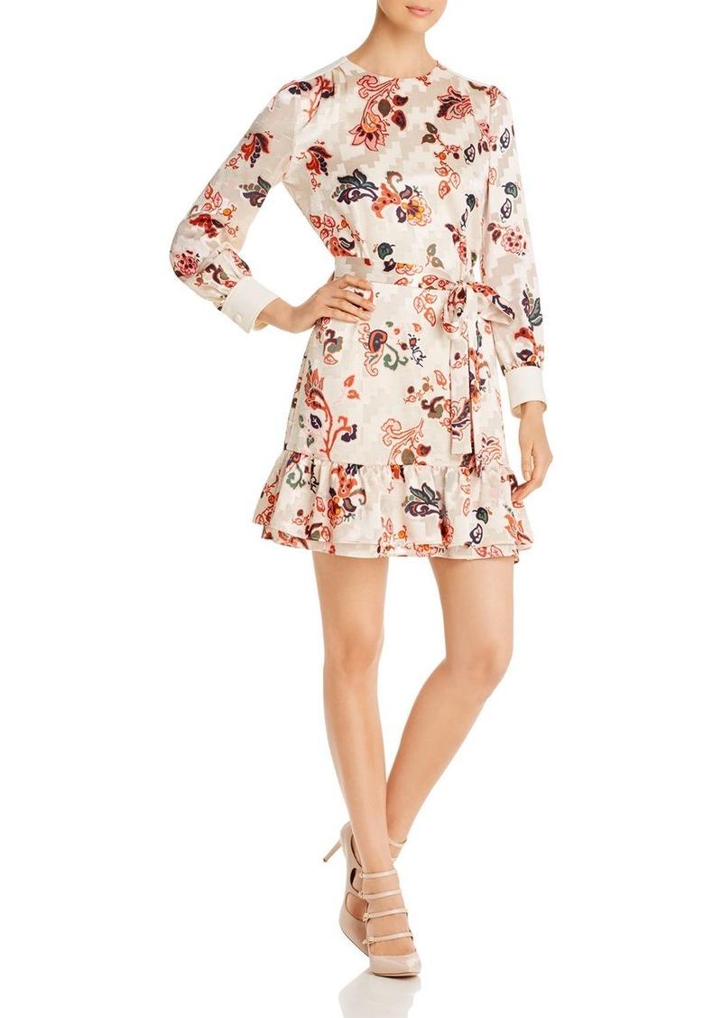 Tory Burch Burnout Floral Paisley Dress