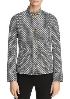 Tory Burch Cameron Crosshatch-Print Jacket