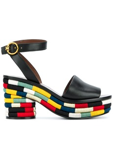 Tory Burch Camilla embroidered sandals - Black