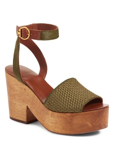 Tory Burch Camilla Genuine Calf Hair Platform Sandal (Women)