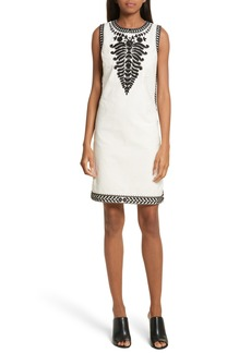 Tory Burch Camille Embellished Shift Dress