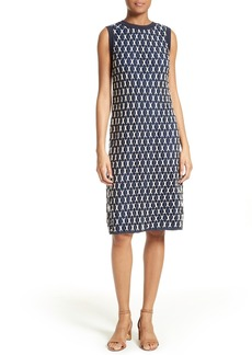 Tory Burch Carolina Two-Tone Guipure Lace Shift Dress