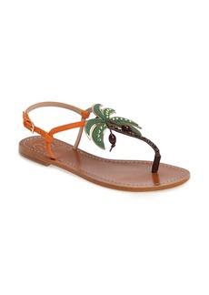 Tory Burch Castaway Embellished Palm Tree Sandal (Women)