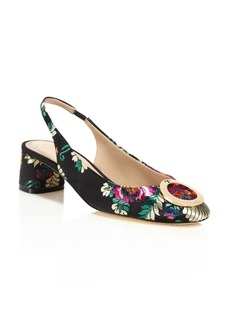 Tory Burch Caterina Brocade Slingback Pumps