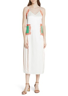 Tory Burch Claire Silk Midi Dress