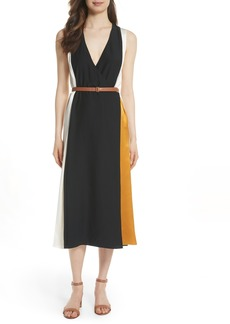 Tory Burch Clarice Colorblock Silk Wrap Dress