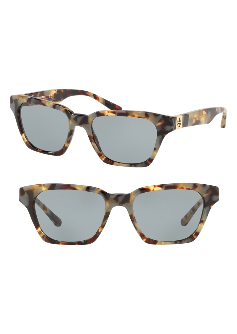 Tory Burch Classic Stacked 51mm Sunglasses