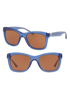Tory Burch Classic Stacked 52mm Sunglasses