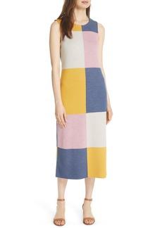 Tory Burch Clayton Sleeveless Merino Wool Midi Dress