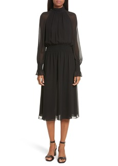 Tory Burch Collette Silk Midi Dress