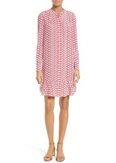 Tory Burch Cora Floral Print Silk Shift Dress