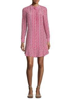 Tory Burch Cora Floral-Print Silk Shirtdress