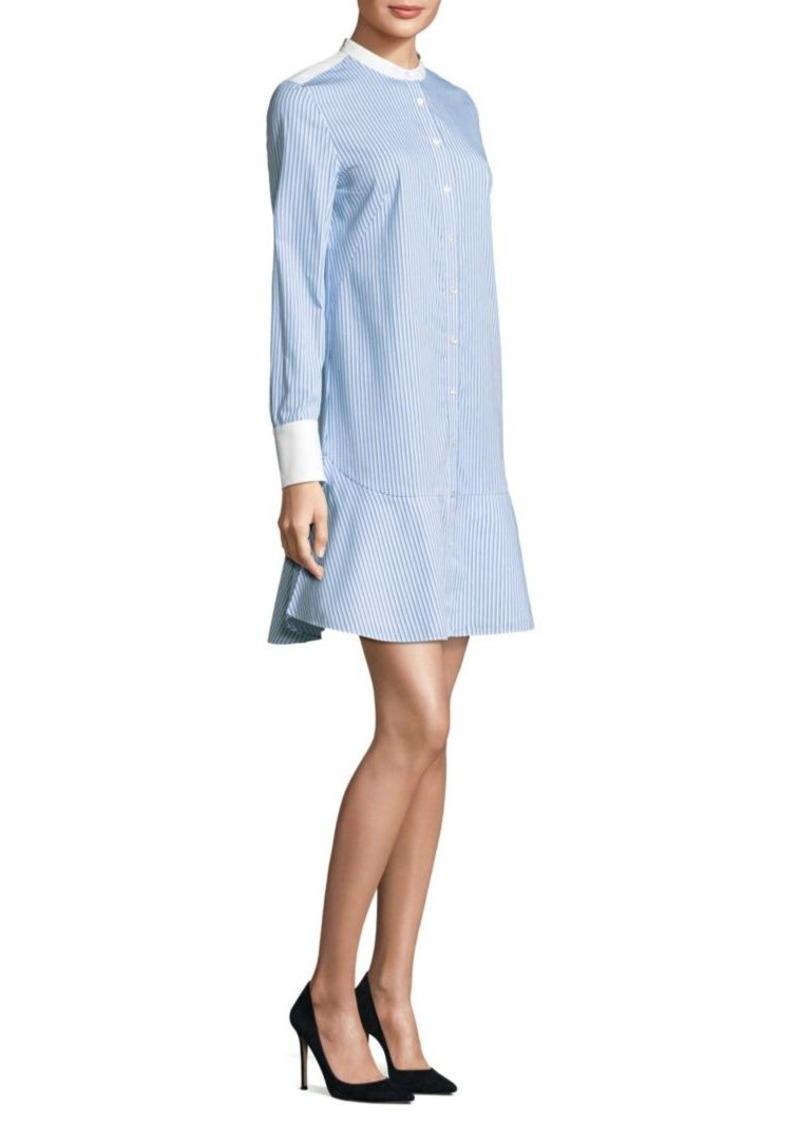 75616e25444 Tory Burch Tory Burch Cora Striped Shirt Dress