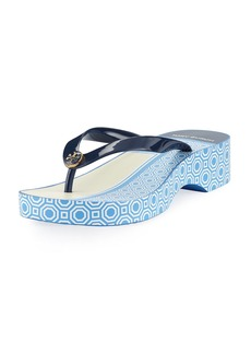 Tory Burch Cutout Wedge Flip Flop