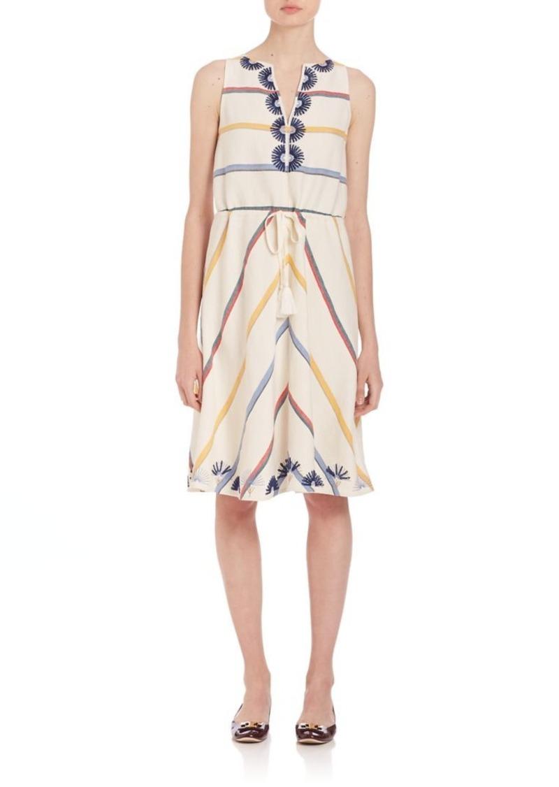 Tory Burch Deck Stripe A-Line Blaine Dress