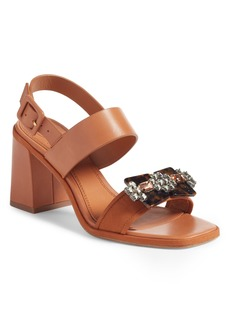 Tory Burch Delaney Embellished Double Strap Sandal (Women)