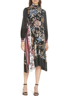 Tory Burch Delilah Silk Midi Dress