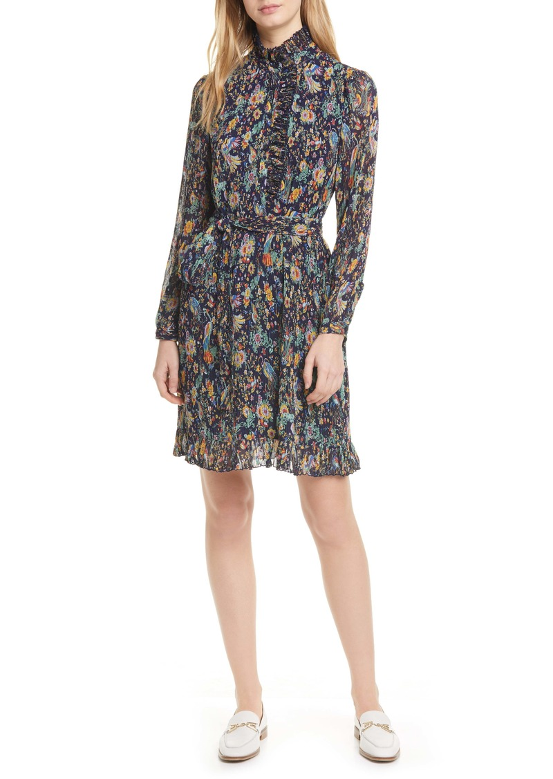 Tory Burch Deneuve Floral Long Sleeve Shirtdress