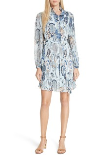 Tory Burch Deneuve Floral Ruffle Minidress