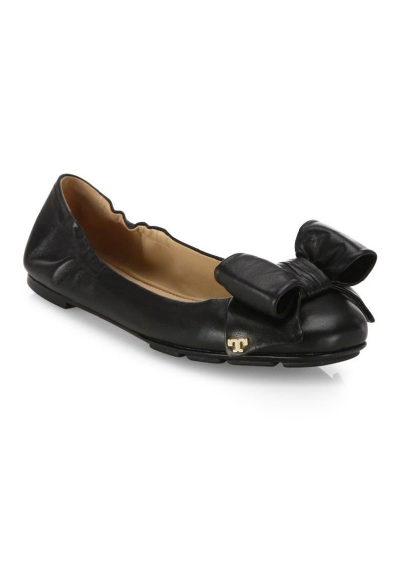 218b4baf1e8 Tory Burch Tory Burch Divine Bow Leather Driver Ballet Flats