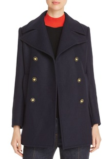 Tory Burch Double-Breasted Wool-Blend Peacoat