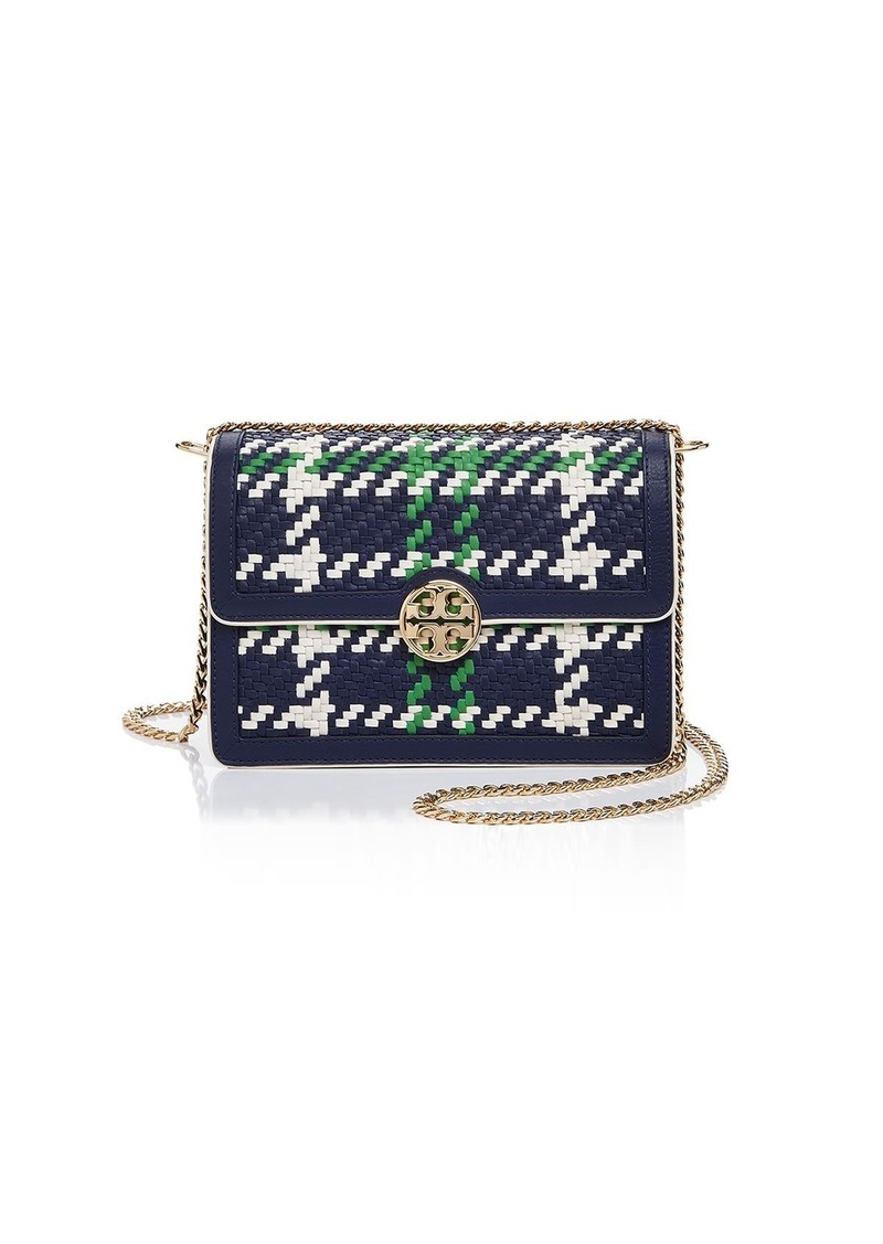 6c05486019f Tory Burch Tory Burch Duet Chain Convertible Woven Leather Shoulder ...