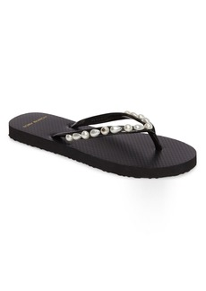 Tory Burch Embellished Flip Flop (Women)
