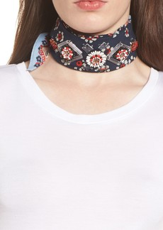 Tory Burch Embellished Floral Scarf