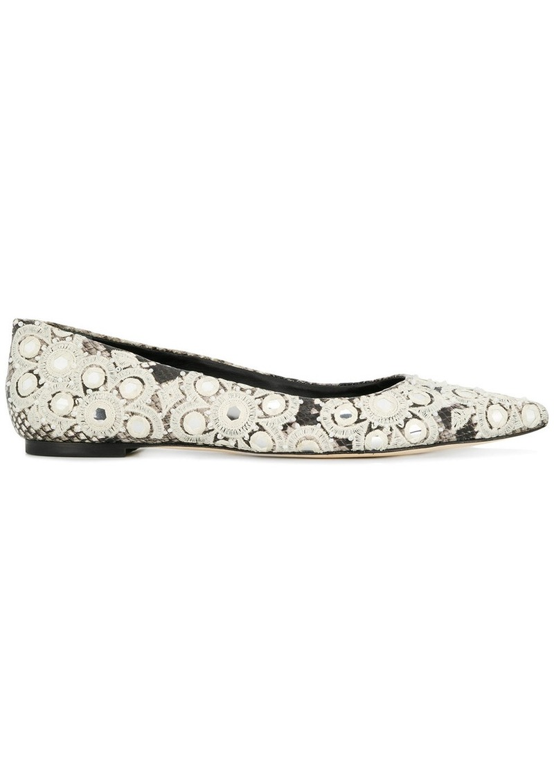 4e9017f11cbb8 embellished pointed toe ballerinas - Nude   Neutrals. Tory Burch