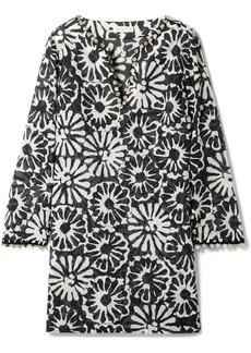 Tory Burch Embellished Printed Cotton-gauze Tunic